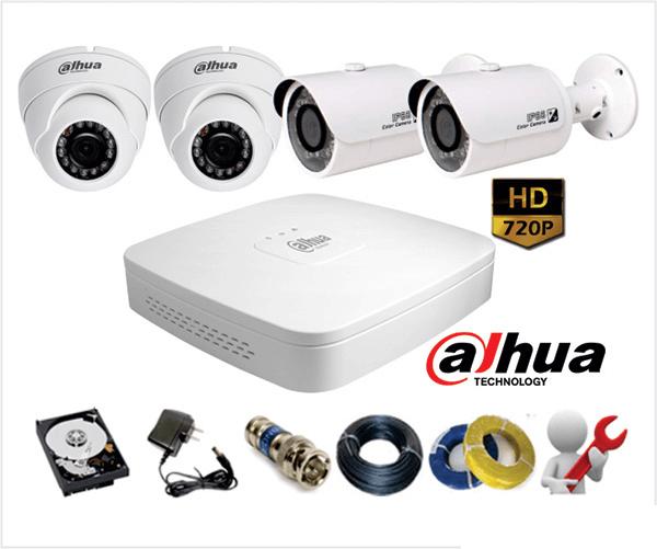 Lắp Đặt trọn bộ Camera DAHUA HD-CVI 1.0Megapixel