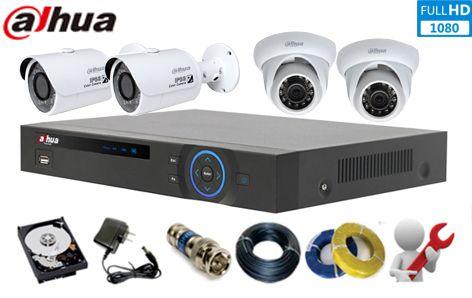 Lắp Đặt trọn bộ Camera DAHUA HD-CVI 2.0Megapixel