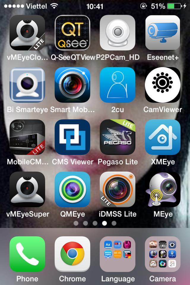 Phần mềm xem camera trên điện thoại iPhone, SamSung, Android...