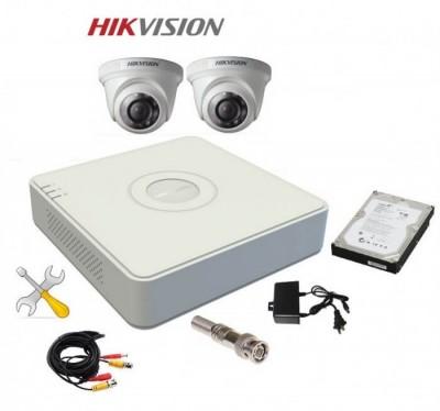 Trọn Bộ 2 Camera HIKVISION Độ Nét HD 1.0 MP